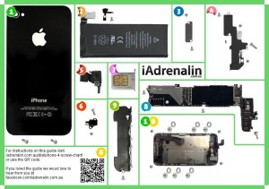 iphone 4 screw chart iadrenalin  iphone 4 screw chart a4 page 1